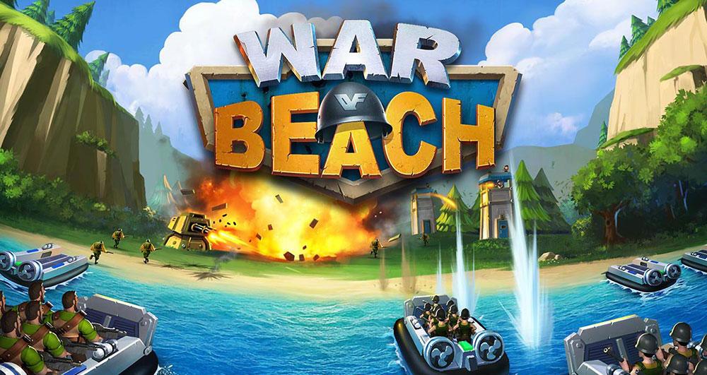 игра война на пляже
