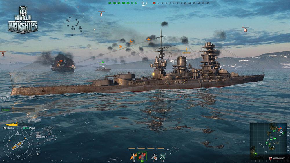 World of Warships корабли